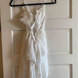 Lacey white dress